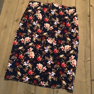 Philosophy Floral Pencil Skirt